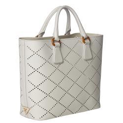 prada wallet price - Prada Perforated Saffiano Fori Tote - 14381703 - Overstock.com ...
