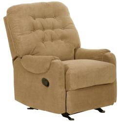 Stockton Mushroom Fabric Recliner/ Glider Chair