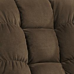 Berkshire Chocolate Brown Fabric Rocker Recliner Chair