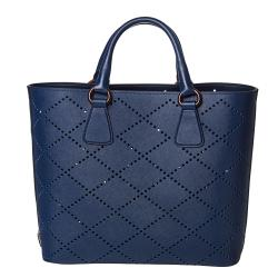 Prada Perforated Saffiano Fori Tote