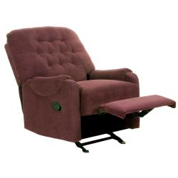 Ryder Burgundy Fabric Recliner/Rocker Chair