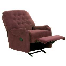 Ryder Burgundy Fabric Recliner/Rocker Chair