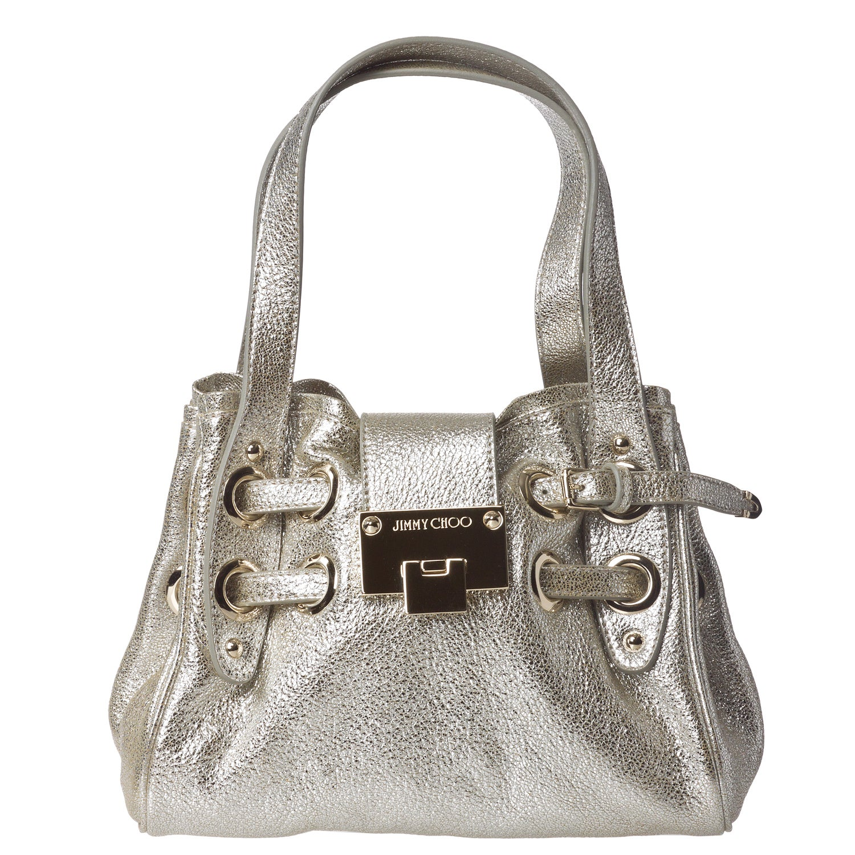 Jimmy Choo '247 ROQUETT GLE' Metallic Shoulder Bag