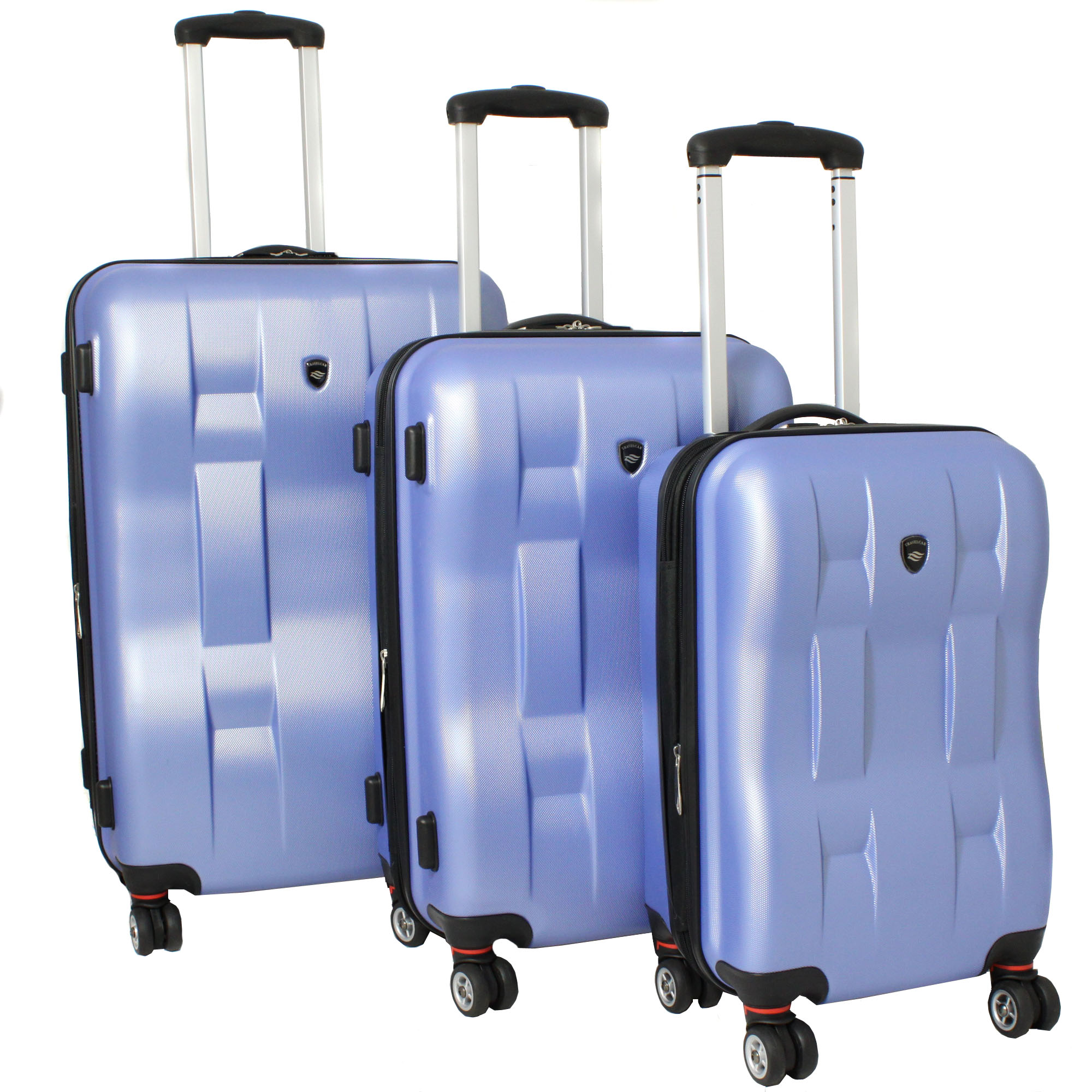 American Travelcar 3-piece Super Lightweight Expandable Hardside Blue Spinner Luggage Set with TSA Lock