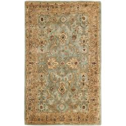 Handmade Persian Legend Blue/ Gold Wool Rug (3' x 5')