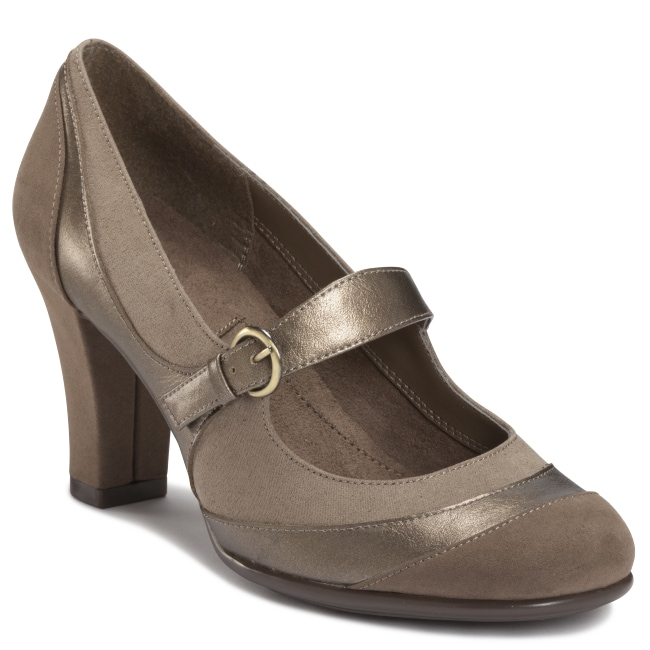 A2 by Aerosoles Troley Mink Combo Mary Jane Pumps