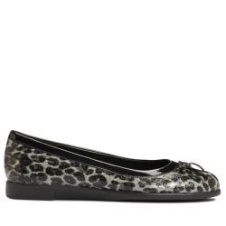 A2 by Aerosoles Becovery Leopard Black/Grey Ballet Flat