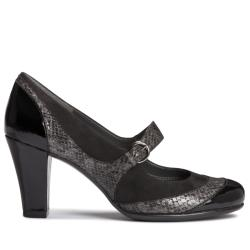 A2 by Aerosoles Troley Black Faux-leather Mary Jane Three-inch Pump