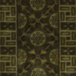Indo Hand-knotted Tibetan Light Brown/ Ivory Wool Rug (2' x 3')
