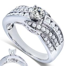 14k White Gold 7/8ct TDW Diamond Engagement Ring (H-I, I1-I2)
