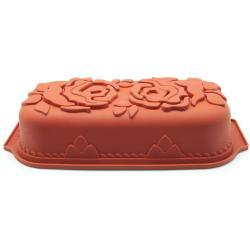Freshware Rose Pattern Pound Cake Silicone Mold/ Pan