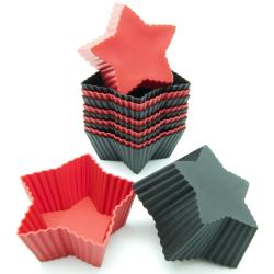 Freshware 12-Pack Mini Star Silicone Reusable Baking Cup