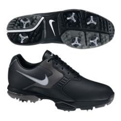 Nike Men's Air Academy II Black/ Grey/ Silver Golf Shoes (Blem)