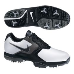 Nike Men's Air Academy II White/ Black/ Pewter Golf Shoes (Blem)