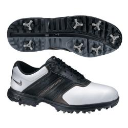 Nike Men's Air Tour Saddle II White/ Silver/ Black Golf Shoes (Blem)