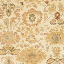 Oushak Cream Powerloomed Rug (8' x 11')