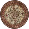 Handmade Persian Legend Red/ Ivory Wool Rug (3'6 Round)