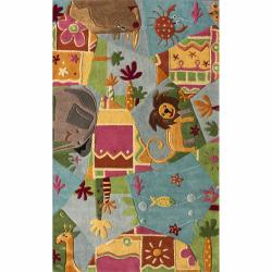 nuLOOM Handmade Kids Jungle Wool Rug (5' x 7')