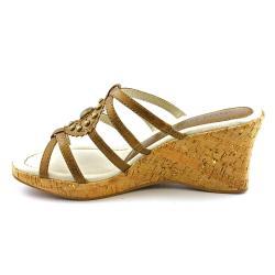 David Tate Women's 'Orbit' Leather Sandals Wide