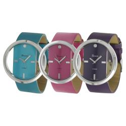 Geneva Platinum Women's Simulated Leather Fashion Watch