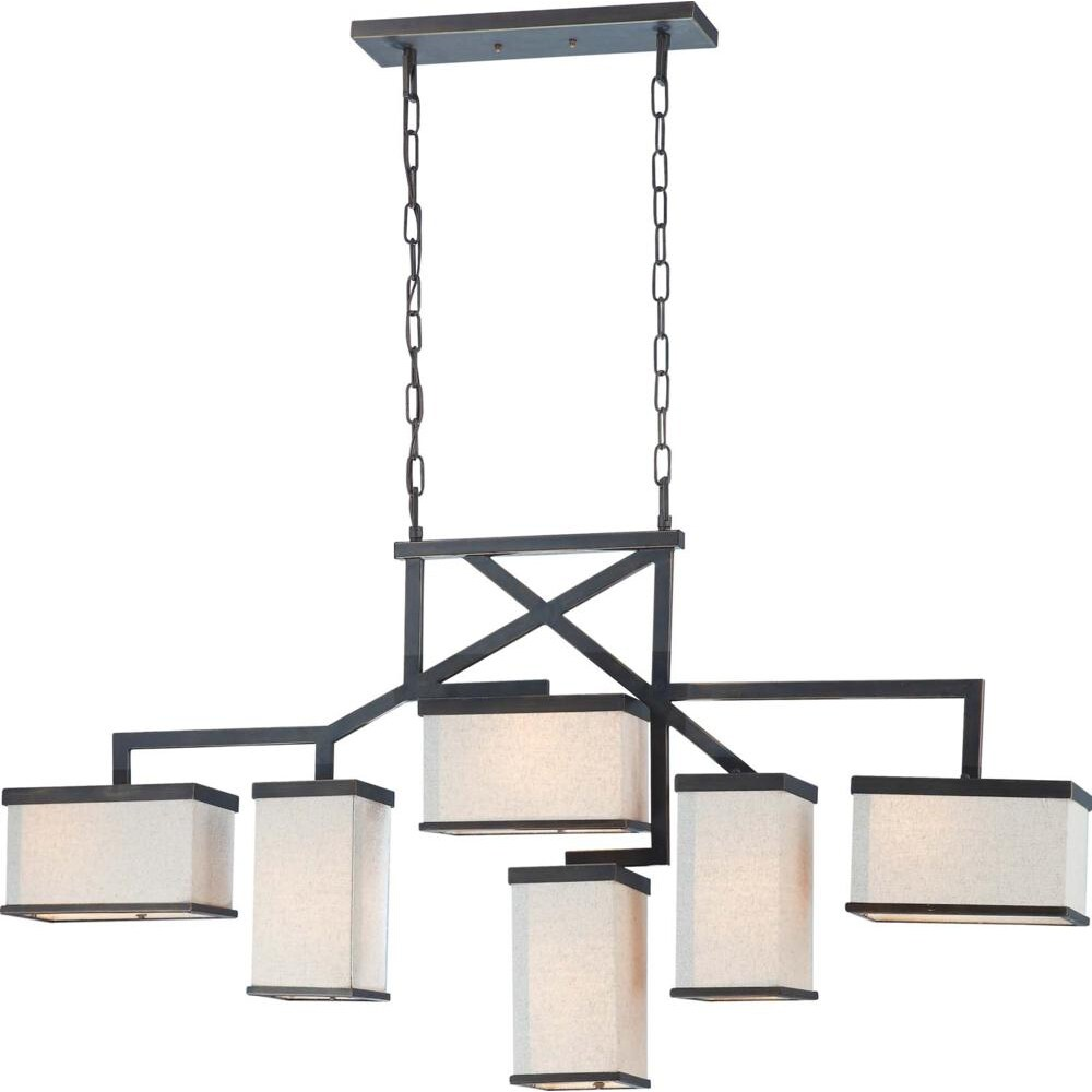 Nuvo Lighting Bronze Six-light Island Pendant
