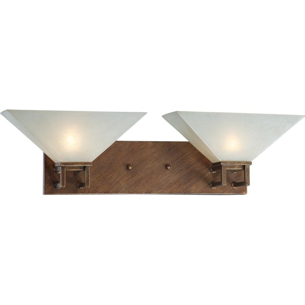 Nuvo Lighting Inca Gold Finish 2-light Wall Sconce