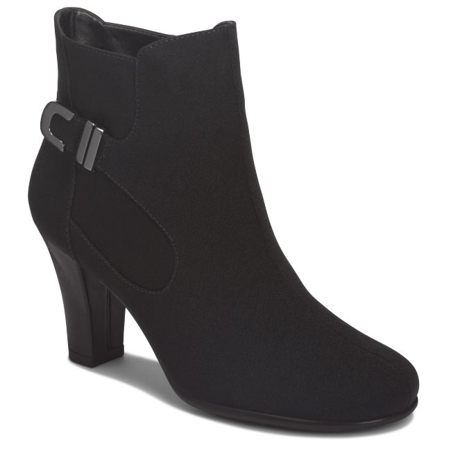 A2 by Aerosoles Role Out Black Fabric Ankle Boot