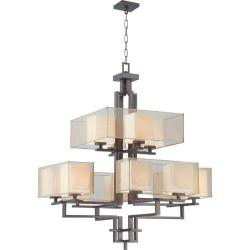 Melanie 12-Light Corvo Bronze Two Tier Chandelier