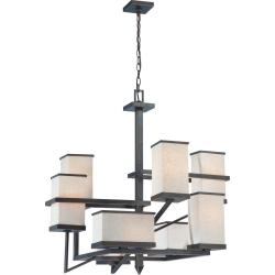 Nuvo Lighting Bronze 8-light Chandelier