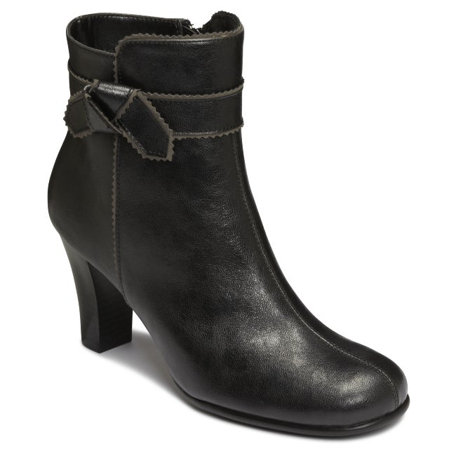 A2 by Aerosoles Ground Role Black Ankle Boot