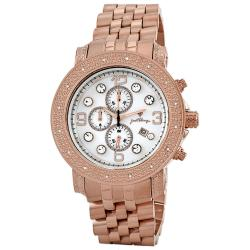 JBW Men's 'Tazo' Stainless Steel Chronograph Diamond Watch