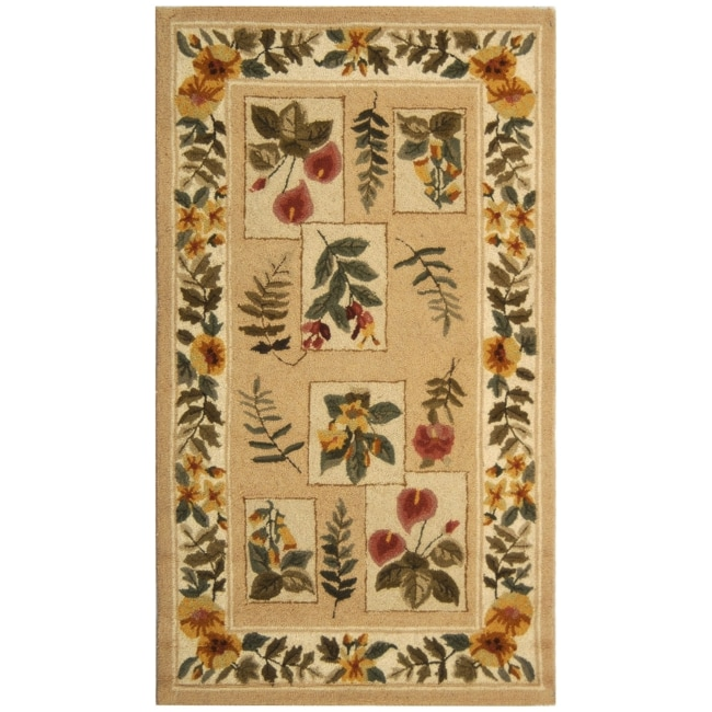 Safavieh Hand-hooked Chelsea Floral Ivory Wool Rug (2'6 x 4')