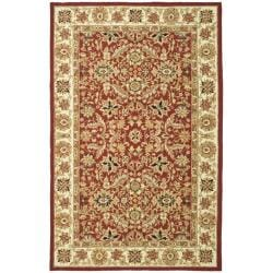 Hand-hooked Chelsea Fall Tabriz Red Wool Rug (7'6 x 9'9)