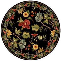 Safavieh Hand-hooked Chelsea Gardens Black Wool Rug (4' Round)