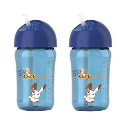 Set of Two Philips Avent Child's 12-ounce Leak-proof Straw Cups