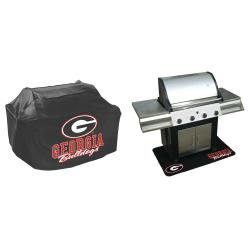 Georgia Bulldogs Grill Cover and Mat Set