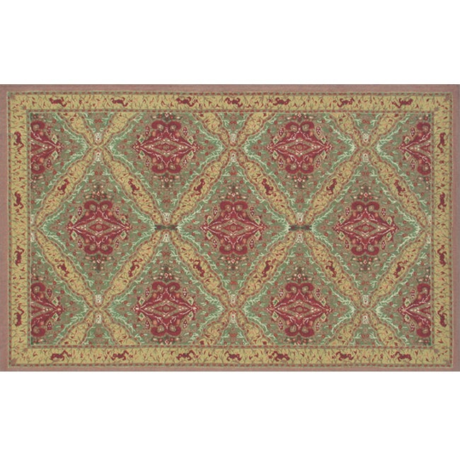 Hand-crafted Sultan Wool Rug (5'6 x 8'6)