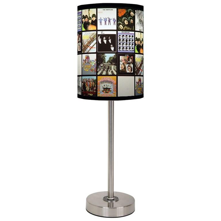 Lamp-In-A-Box Beatles Shade Brushed Nickel Lamp