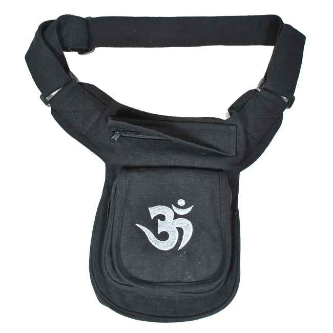 Hemp Canvas Om Fanny Pack (Nepal)