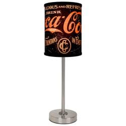 Lamp-In-A-Box Coca-Cola Five Cent Brushed Nickel Table Lamp