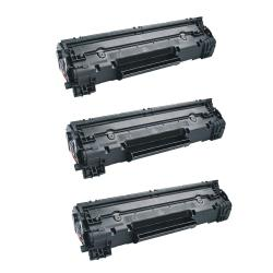 HP CE285A Compatible Black Toner Cartridges (Set of 3)