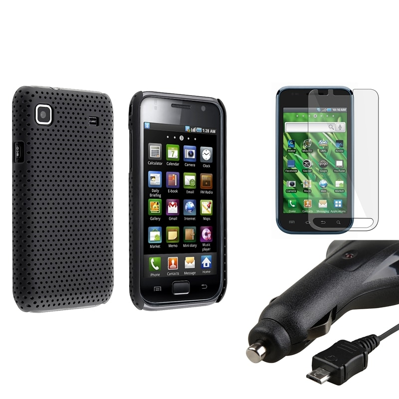 Black Case/ Protector/ Car Charger for Samsung Vibrant SGH-T959