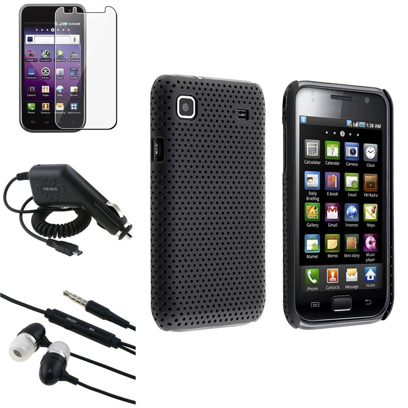 Black Case/ Charger/ Headset/ Protector for Samsung Galaxy S 4G T959v
