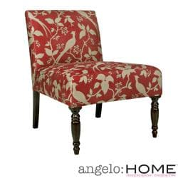 angelo:HOME Bradstreet Modern Bird Branch Crimson Red Chair