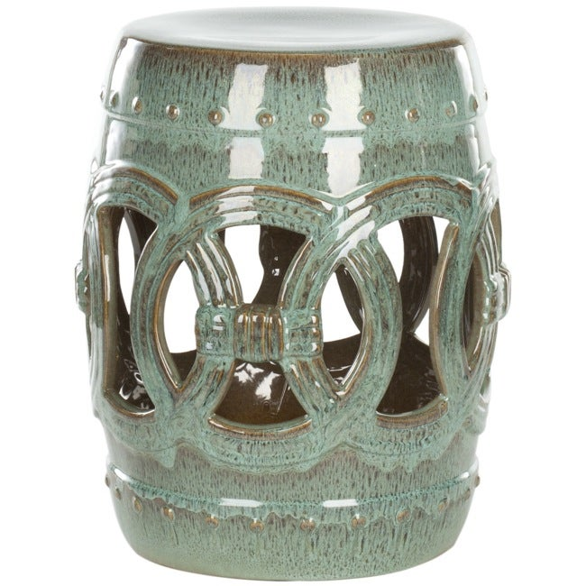 Safavieh Paradise Double Coin Blue Ceramic Garden Stool