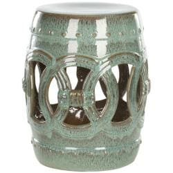 Paradise Double Coin Blue Ceramic Garden Stool