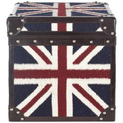 Safavieh Treasures UK Union Jack Square Storage Trunk