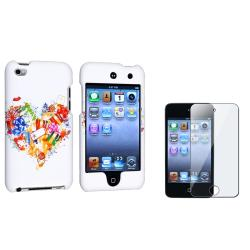 Rubber Case/ Screen Protector for Apple� iPod Touch Generation 4