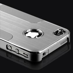 Aluminum Chrome Silver Case/ Mini Stylus for Apple iPhone 4/ 4S
