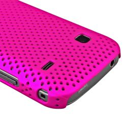 Hot Pink Mesh Rear Case/ LCD Protector for Samsung S5660 Galaxy Gio